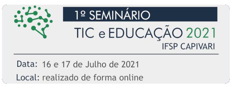 I Seminário TIC e Educação