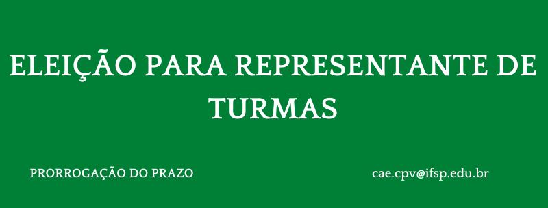 Prorrogação das inscrições  e alteração do cronograma da 2ª Eleição de Representantes Discentes de Turma 2021